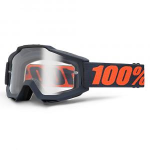 100% Accuri Crossglasögon Svart/Röd