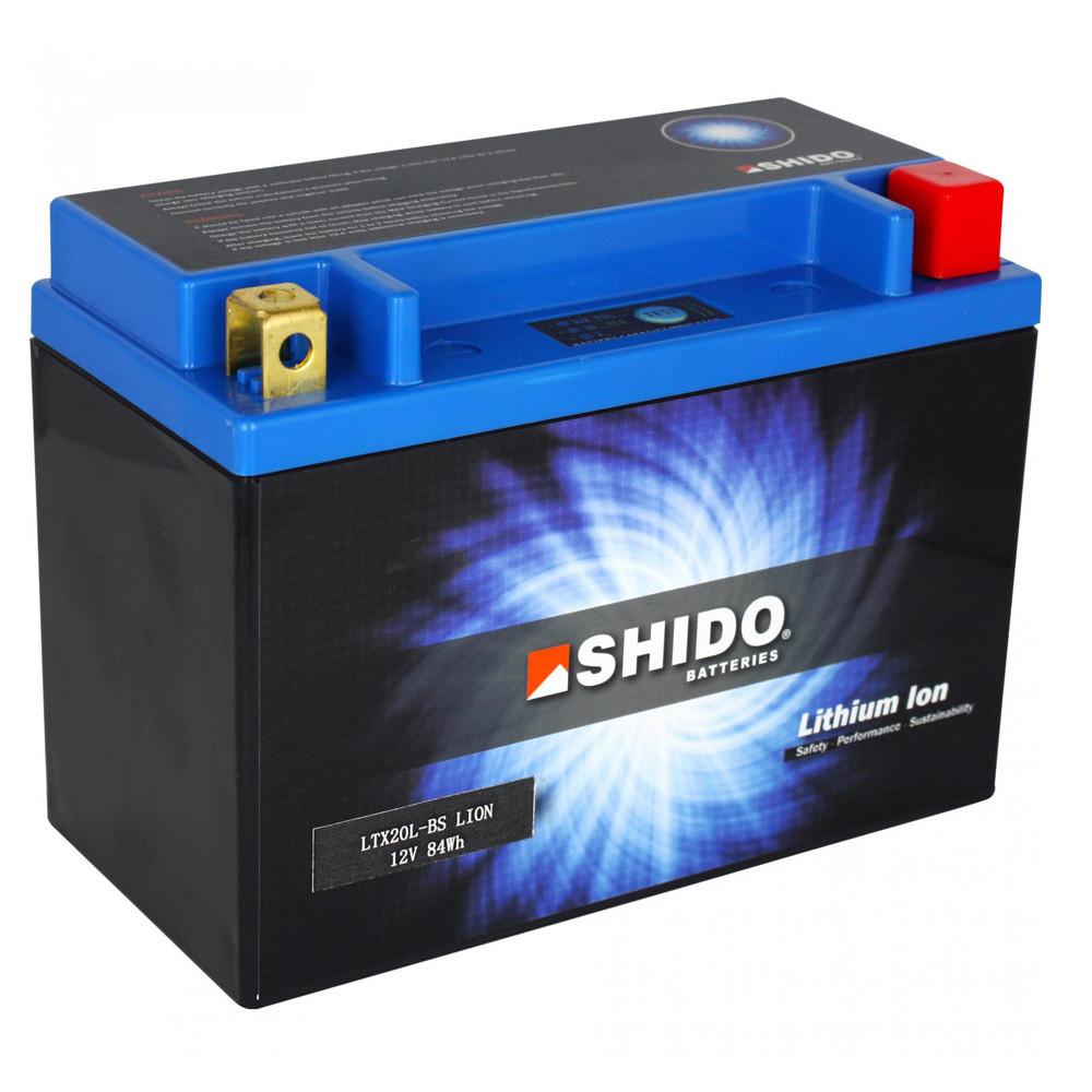 Shido Litium Batteri YTX20H-BS-LION