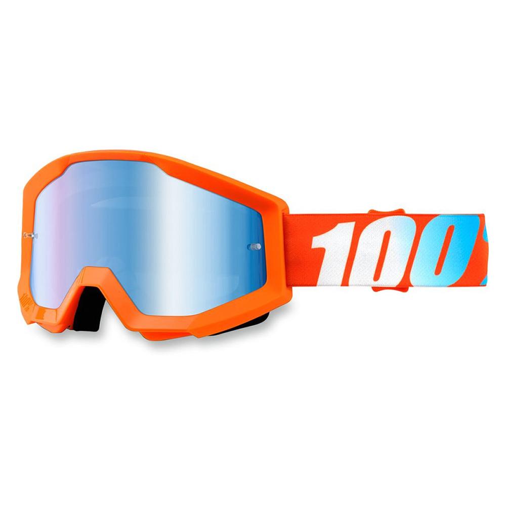 100% Strata Orange Spegel Blå
