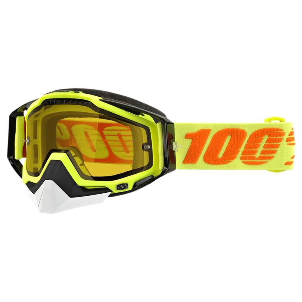 100% Racecraft Skoterglasögon Gul - Gul Klar lins