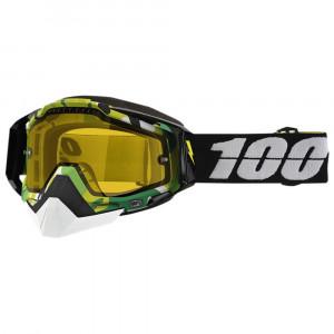 100% Racecraft Skoterglasögon Bootcamp Camo - Gul Klar lins