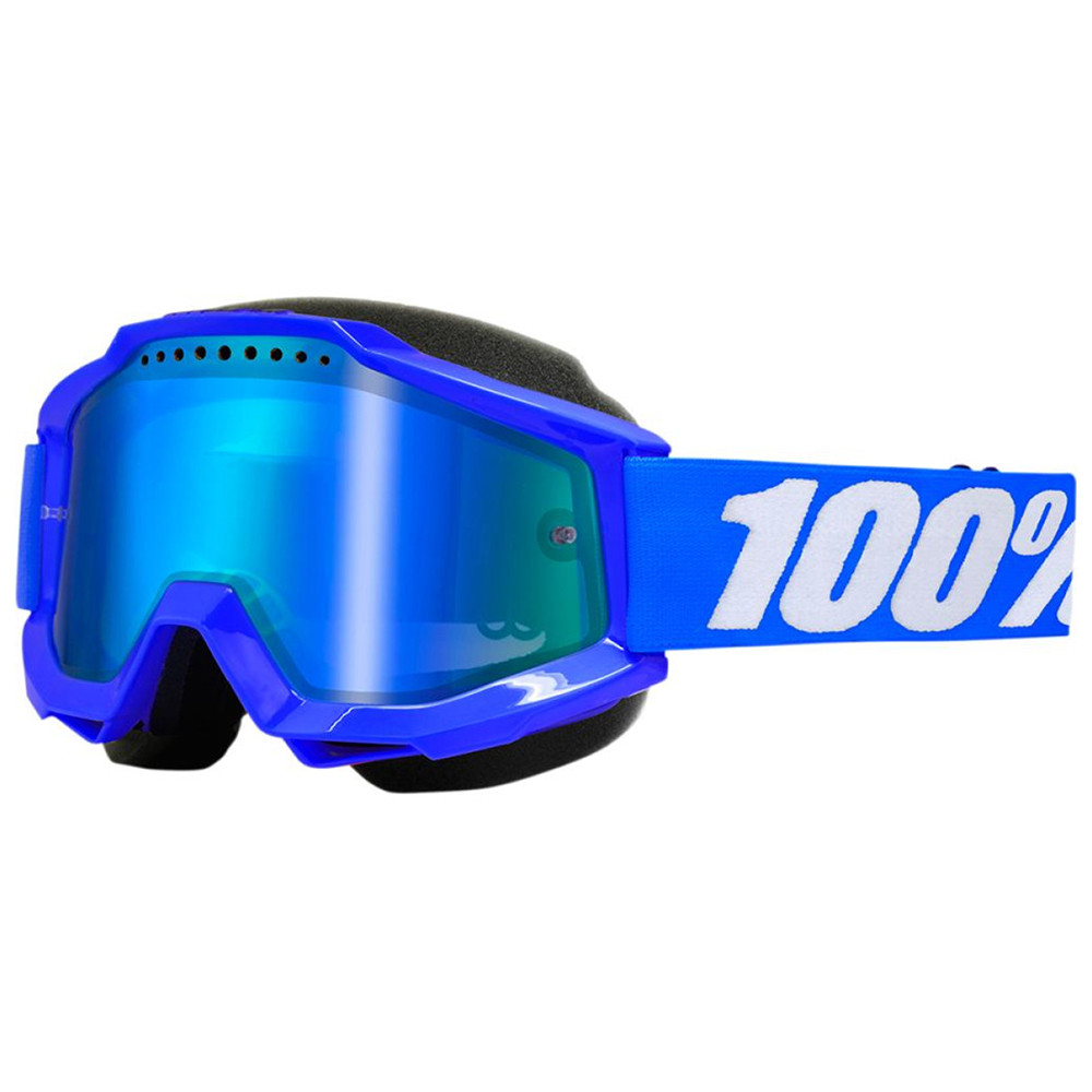 100% Accuri Skoterglasögon Blå - Blå Lins Spegel