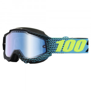 100% Accuri Skoterglasögon R-Core - Blå Spegel Lins