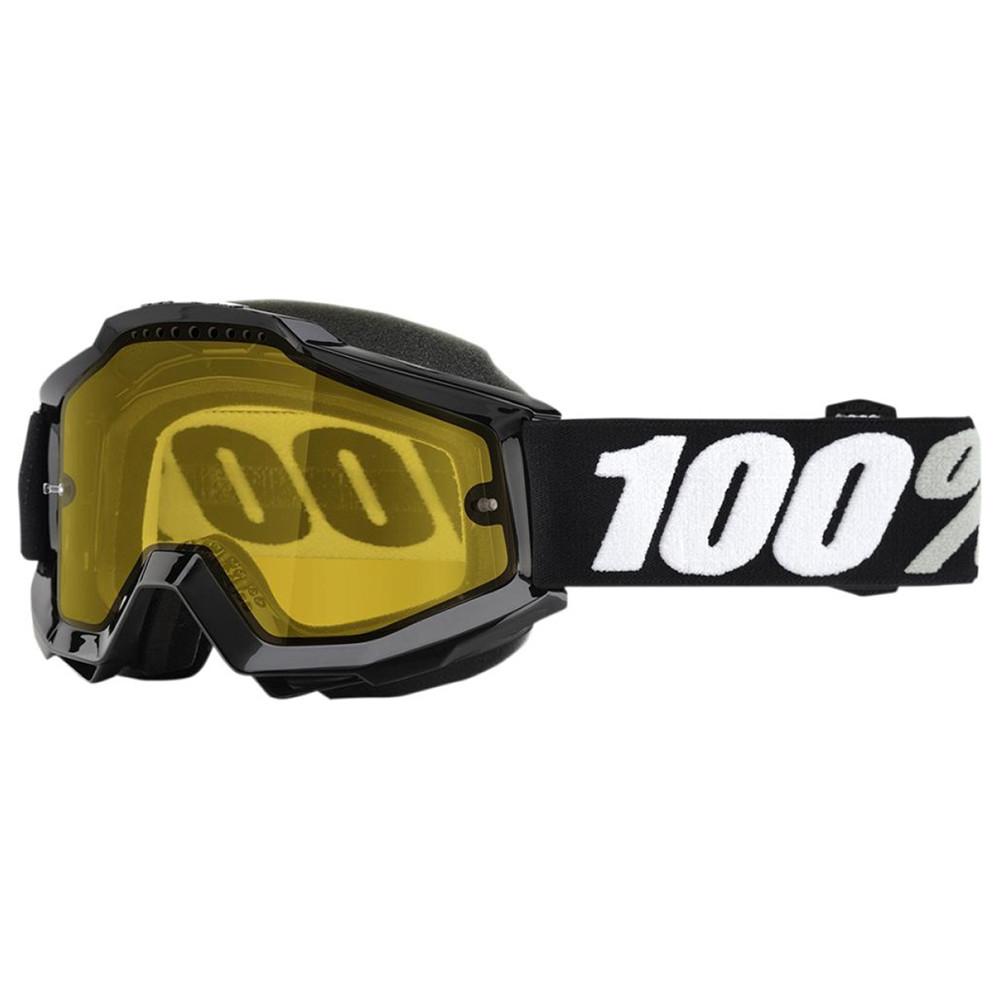 100% Accuri Skoterglasögon Tornado - Klar Lins Gul