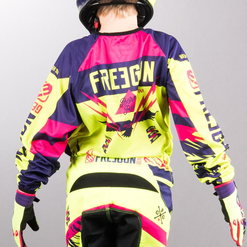 Shot Freegun Junior Crosströja Neon/Yellow