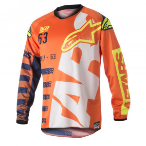 Alpinestars Crosströja Racer Braap Orange/Vit/Fluo