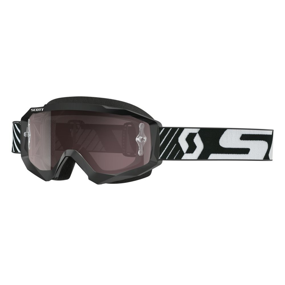 Scott Goggle Hustle MX black/white / silv chr wks