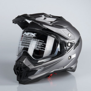 AFX FX-41DS ADVENTURE HELMET FROST GRAY