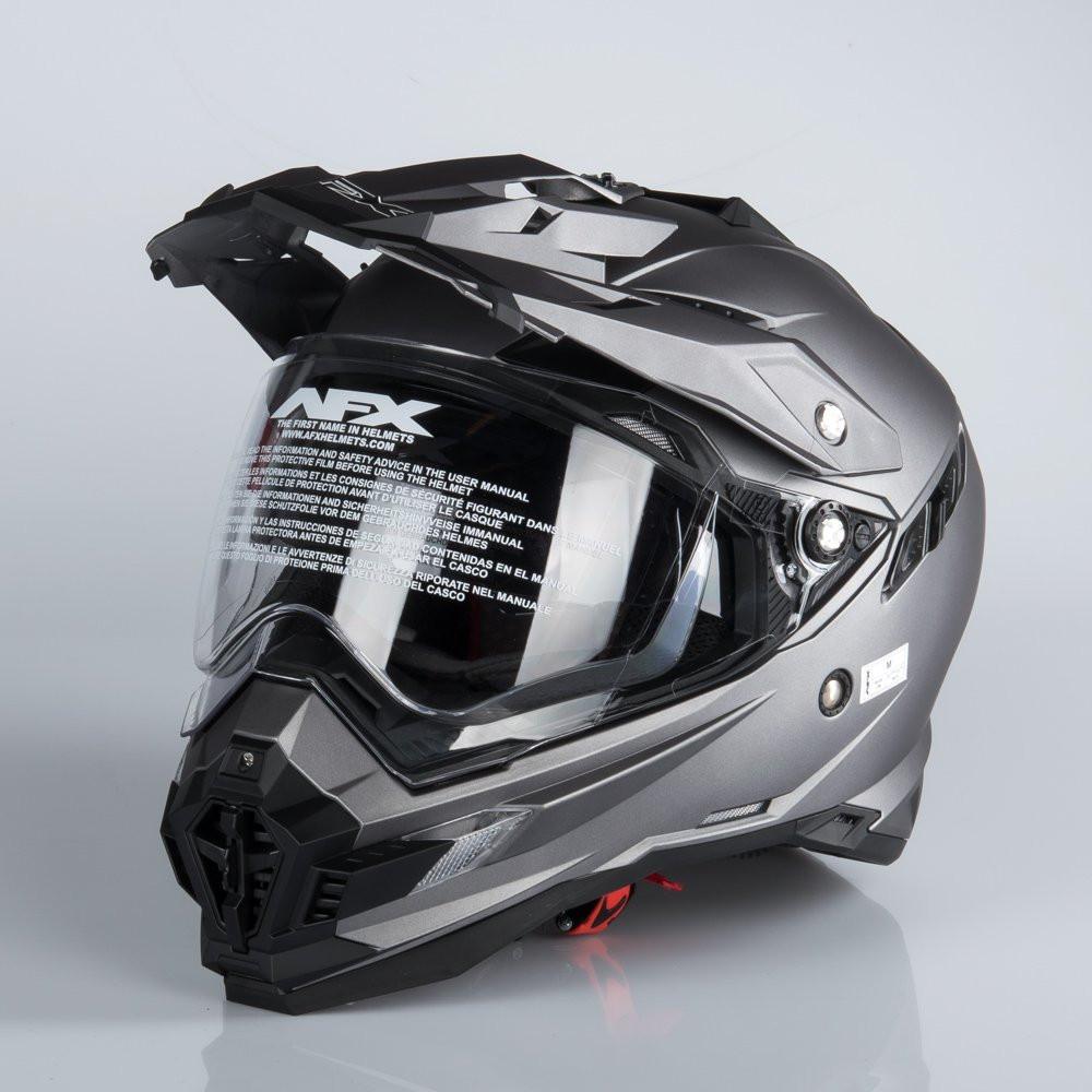 AFX FX-41DS ADVENTURE HELMET FROST GRAY
