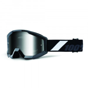 100% GOGGLE STRATA JUNIOR GOLIATH SVART ANTI-FOG KLAR LENS