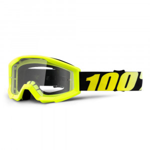 100% GOGGLE STRATA JUNIOR GOLIATH GUL ANTI-FOG KLAR LINS