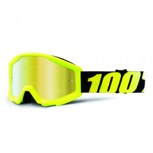 100% GOGGLE STRATA JUNIOR GOLIATH GUL ANTI-FOG GULD SPEGEL LINS