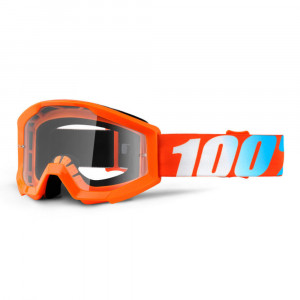 100% GOGGLE STRATA JUNIOR GOLIATH SVART ANTI-FOG KLAR LINS