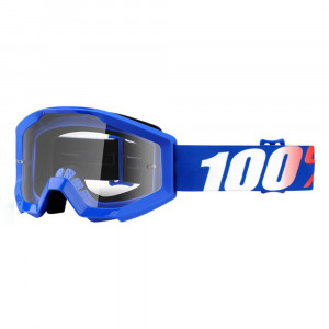 100% GOGGLE STRATA JUNIOR GOLIATH BLÅ ANTI-FOG KLAR LINS