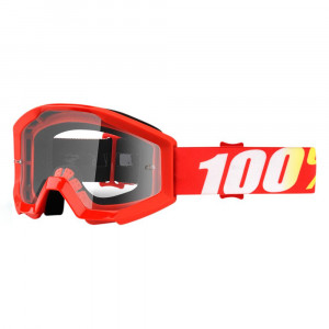 100% GOGGLE STRATA JUNIOR GOLIATH RÖD ANTI-FOG KLAR LINS