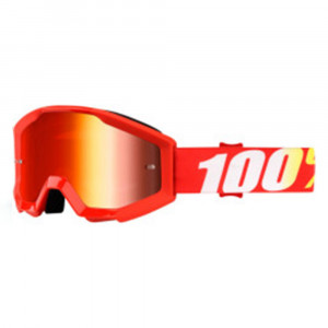 100% GOGGLE STRATA JUNIOR GOLIATH RÖD ANTI-FOG RÖD SPEGEL LINS