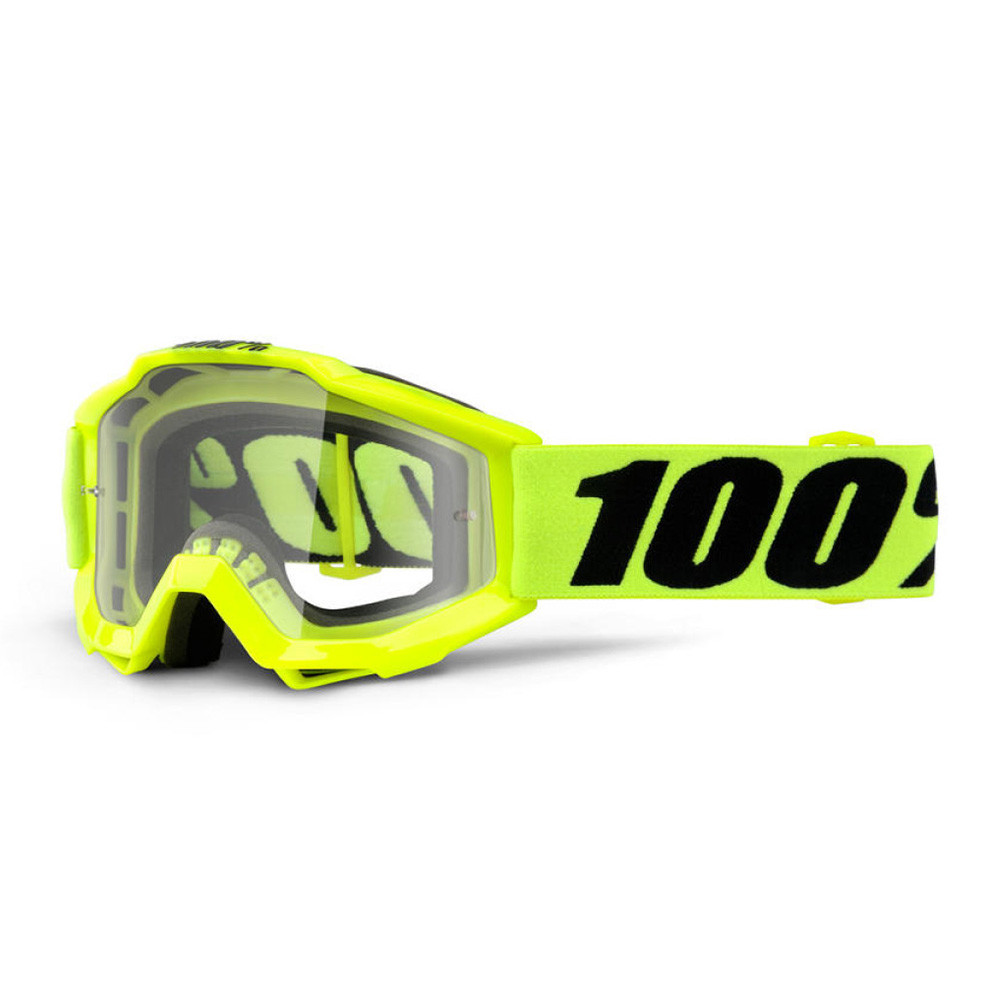 100% GOGGLE ACCURI JUNIOR GOLIATH FLUOGUL KLAR LINS