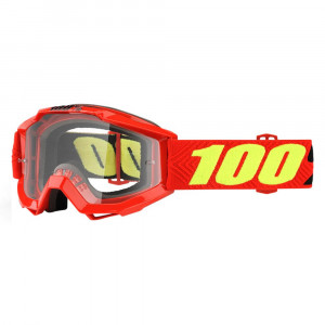 100% GOGGLE ACCURI JUNIOR RÖD KLAR LINS