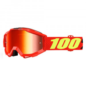 100% GOGGLE ACCURI JUNIOR RÖD RÖD SPEGEL LINS