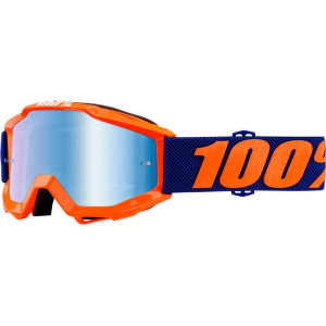 100% GOGGLE ACCURI JUNIOR ORANGE BLÅ SPEGEL LINS