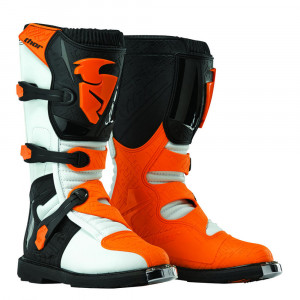YOUTH BLITZ S6 OFFROAD BOOTS VIT/ORANGE