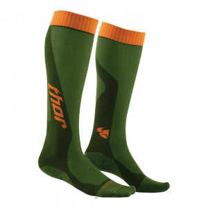THOR YOUTH MX COOL S6Y SOCKAR GRÖN/ORANGE ONESIZE