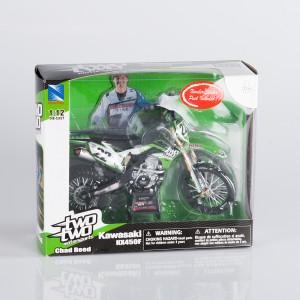 Leksak Kawasaki Bud Racing Skala 1:12