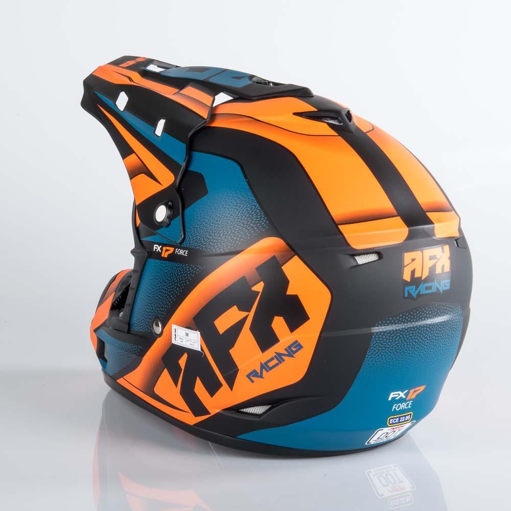 AFX FX-17 Crosshjälm Matt Svart Orange Blå f1b842a51d27e