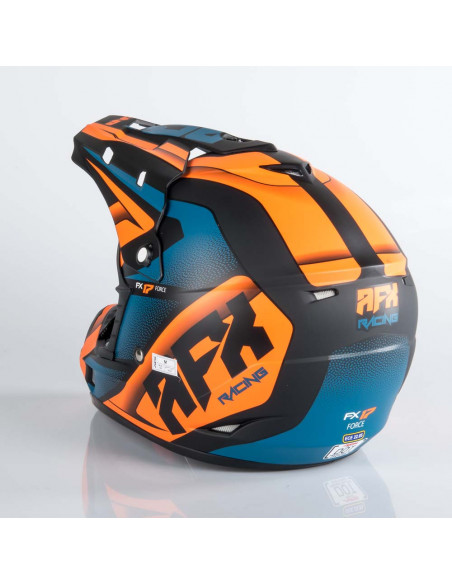 AFX FX-17 Crosshjälm Matt Svart/Orange/Blå