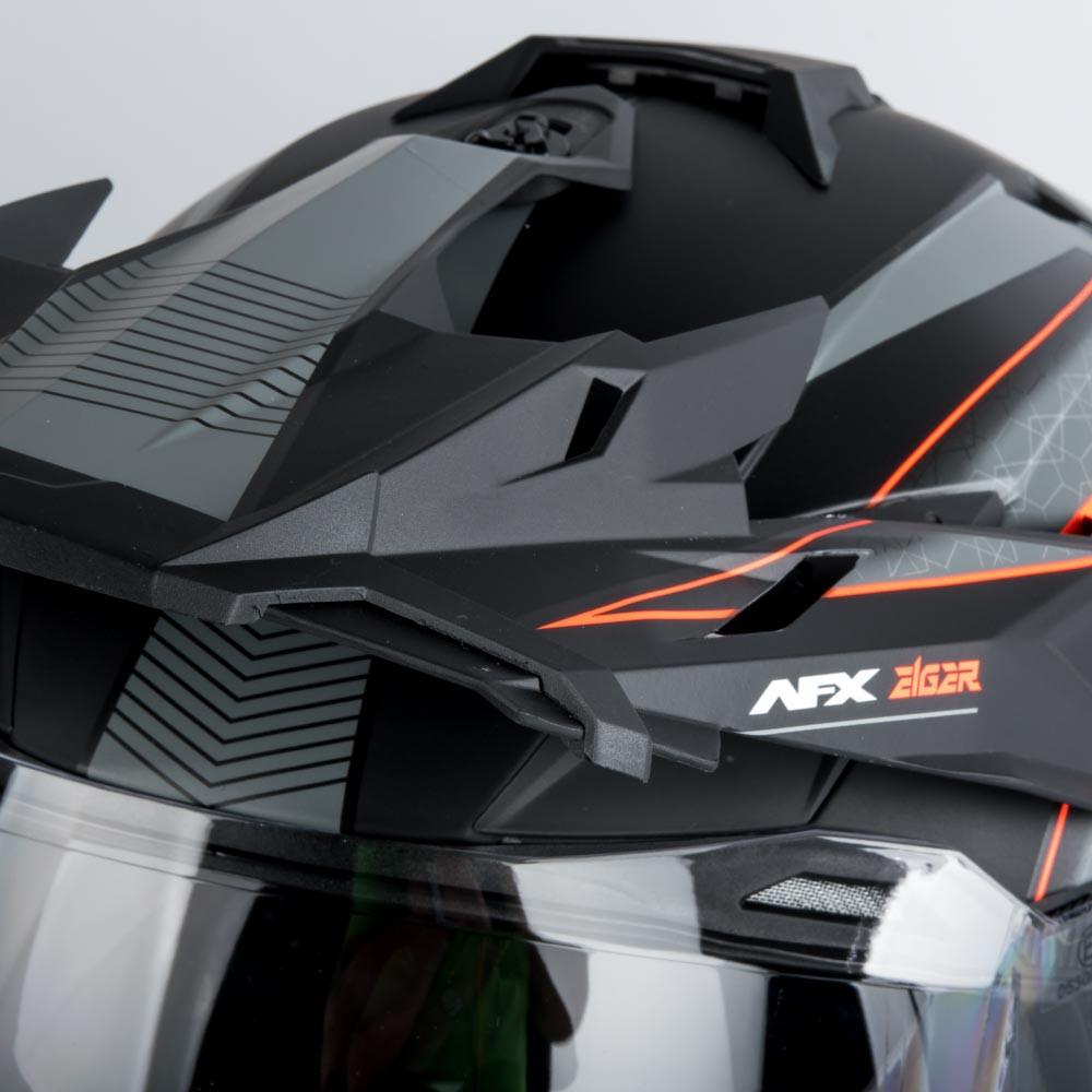 AFX FX-41DS Adventure Hjälm Grå/Orange