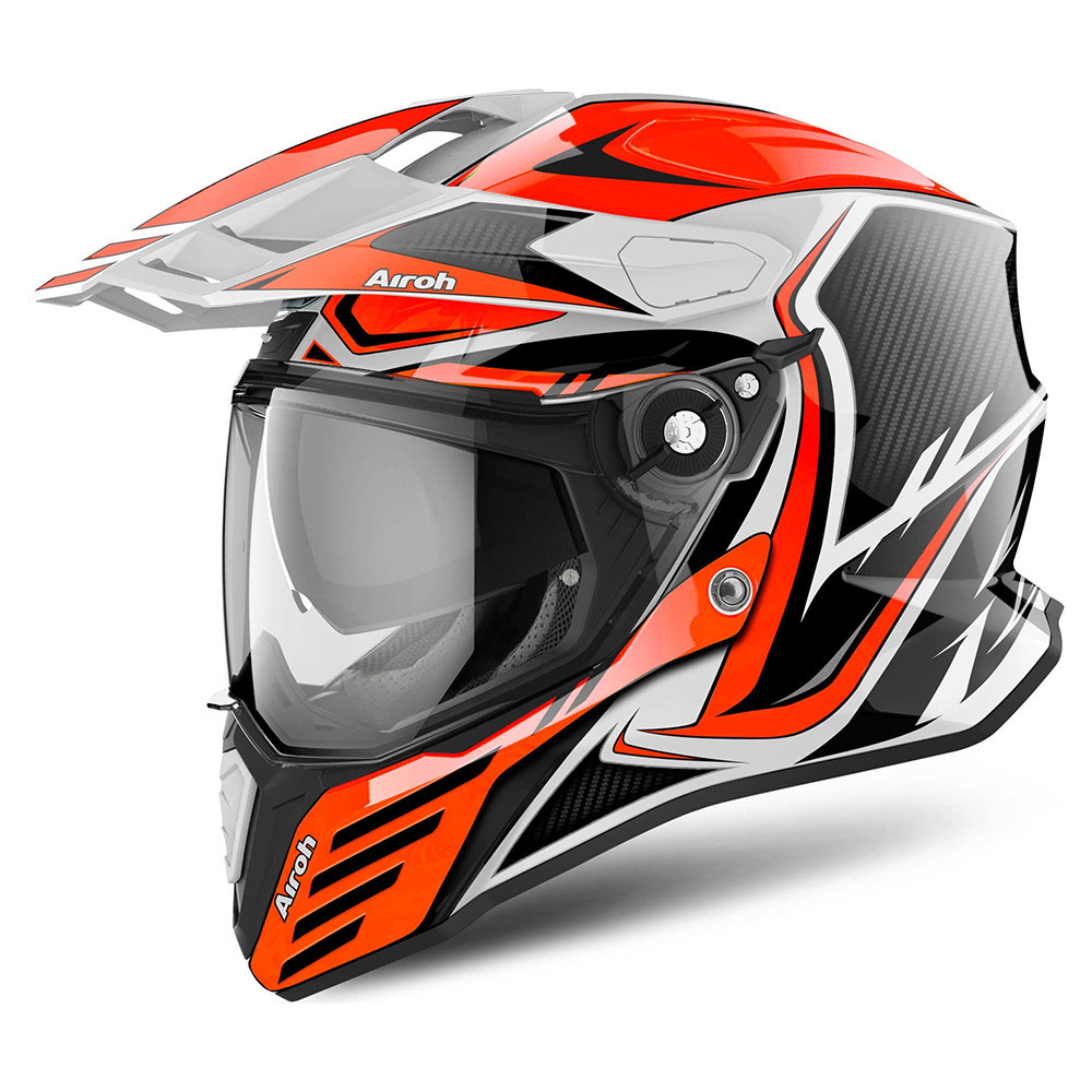 Airoh Commander Adventure MC Hjälm Carbon Orange e05dd60fcef16