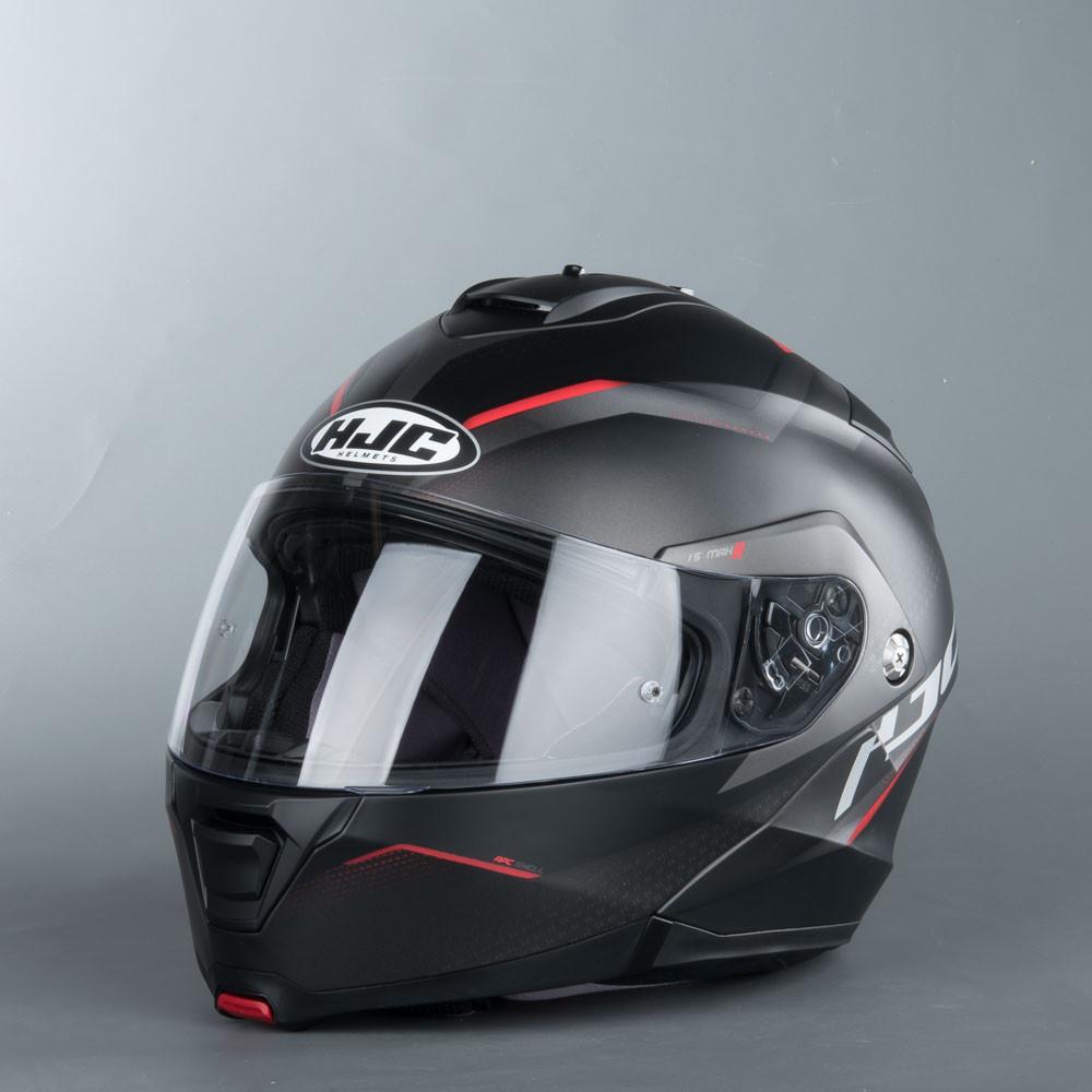 HJC IS-MAX 2 Dova MC1SF Öppningsbar Mc Hjälm Svart/Röd