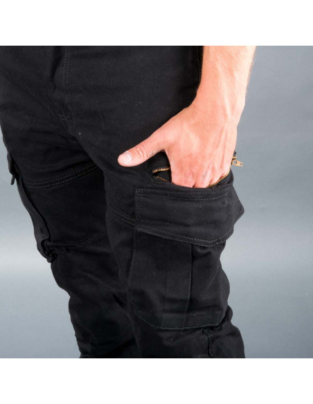 React Hawker Cargo Full Kevlar Cargo Jeans Svart