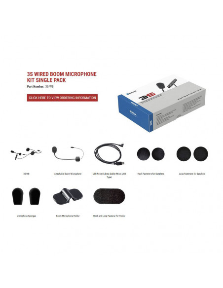 Sena Intercom 3S Wired Boom