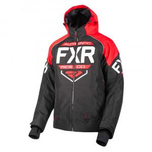 FXR Clutch Skoterjacka Svart/Röd/Vit