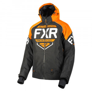 FXR Clutch Skoterjacka Svart/Orange/Vit