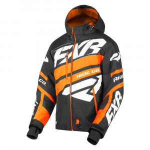 FXR Boost X Skoterjacka Svart/Orange/Vit