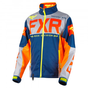 FXR Cold Cross RR Skoterjacka Navy/Grå/Orange/Röd/Hi Vis
