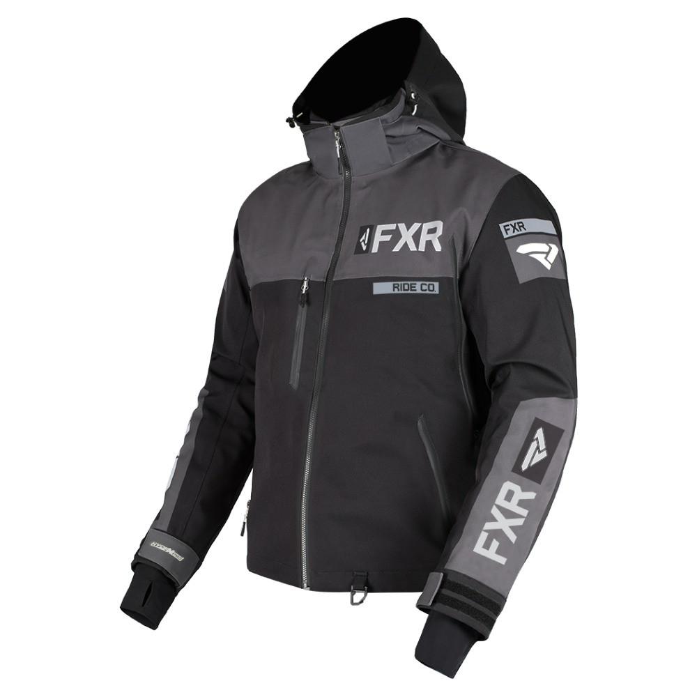 FXR Helium Pro X Skoterjacka Svart/Charcoal/Grå Herr