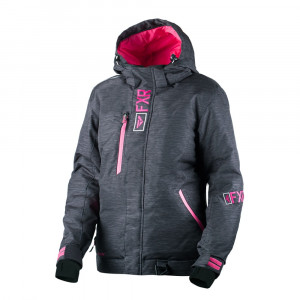 FXR Pulse Skoterjacka Char Jersey Heather/Fuchsia