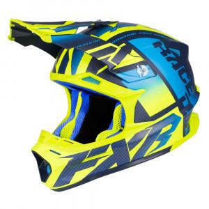 FXR Blade 2.0 Carbon Race Div Helmet Blå/Hi Vis/Navy