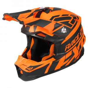 FXR Blade 2.0 Race Div Helmet Svart/Flo Orange
