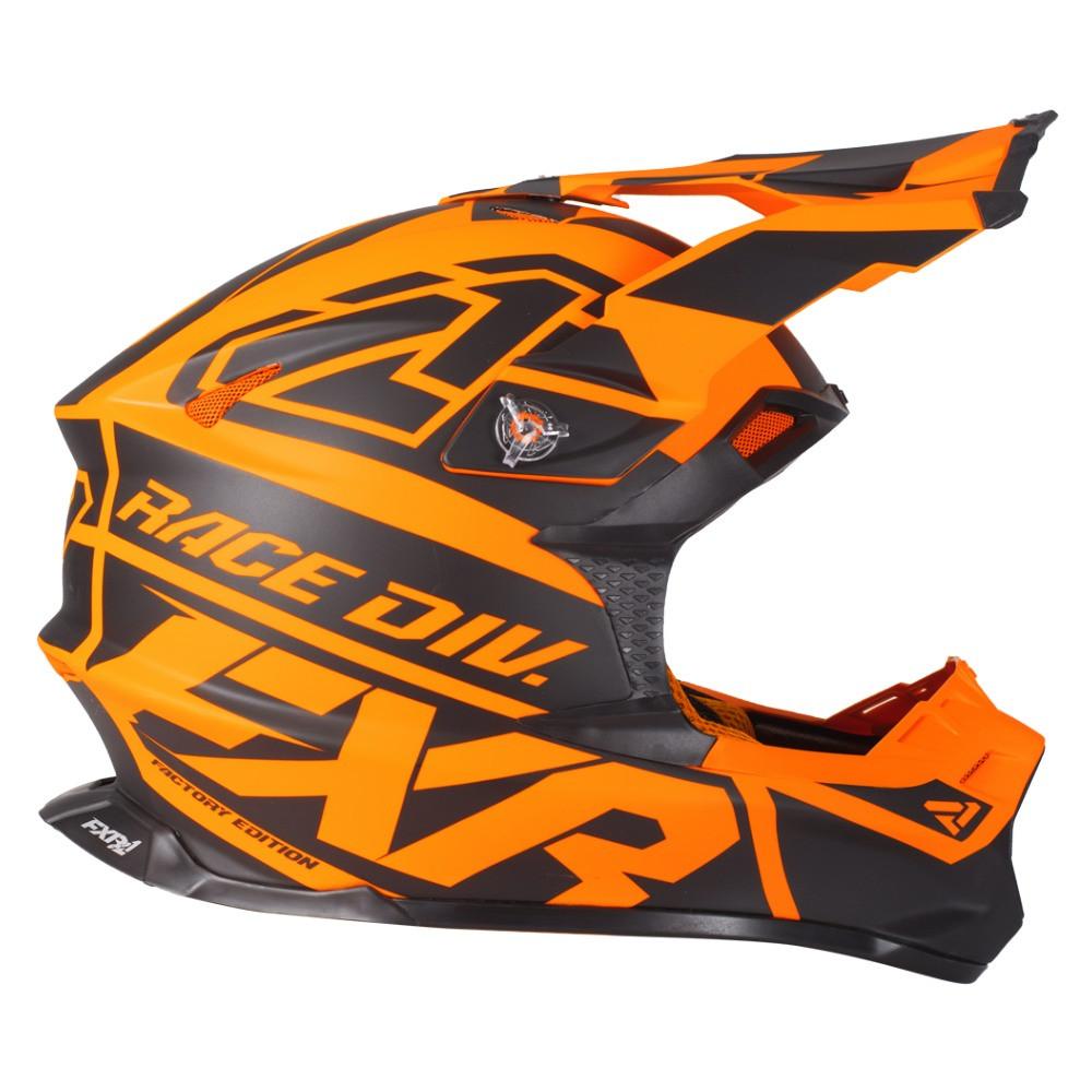 FXR Blade 2.0 Race Div Helmet Svart/Flo Orange