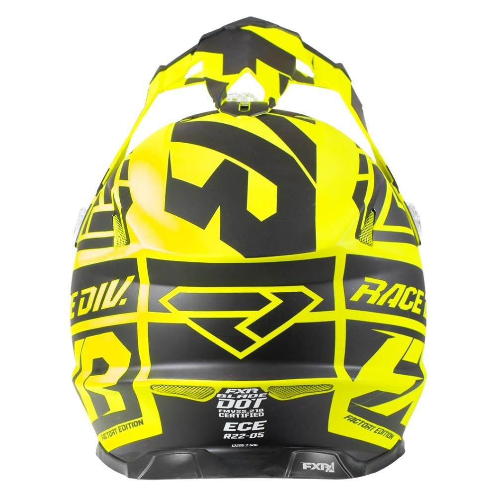 FXR Blade 2.0 Race Div Helmet Svart/Hi Vis