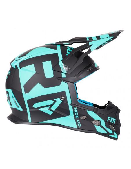 FXR Boost Clutch Helmet Svart/Mint