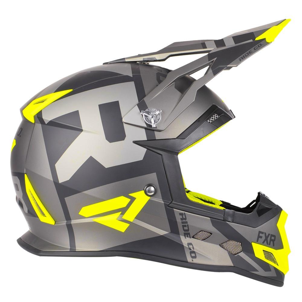 FXR Boost Clutch Helmet Svart/Hi Vis/Charcoal