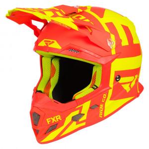 FXR Boost Clutch Helmet Hi Vis/Nuke Röd