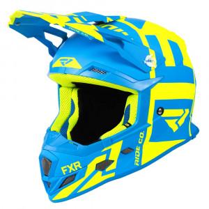 FXR Boost Clutch Helmet Hi Vis/Blå