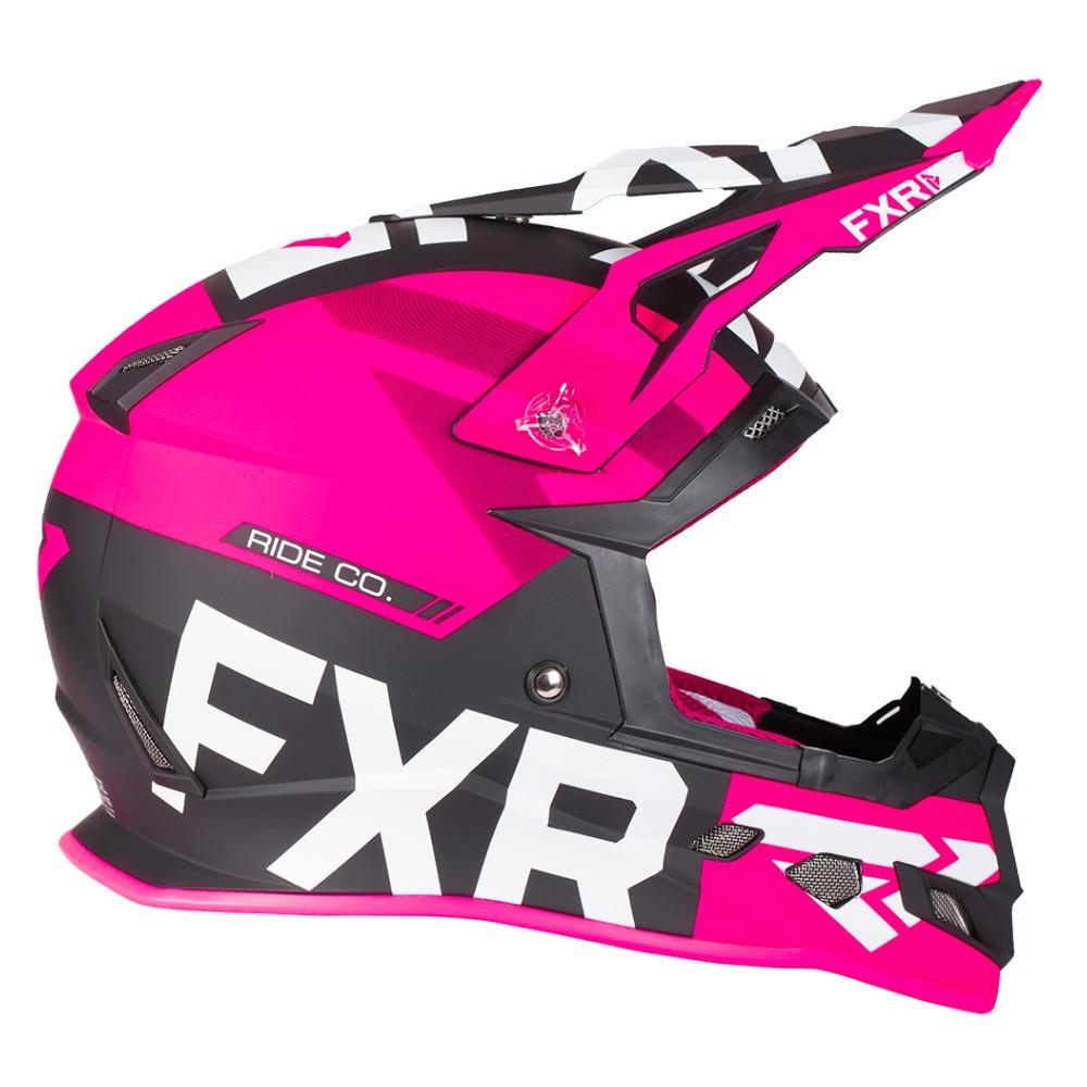 FXR Boost Evo Helmet Svart/Fuchsia