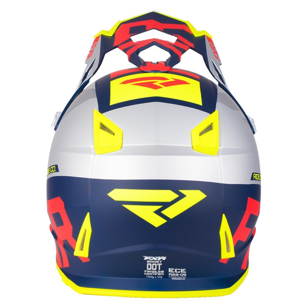 FXR Boost Evo Helmet Navy/Röd/Hi Vis/Silver